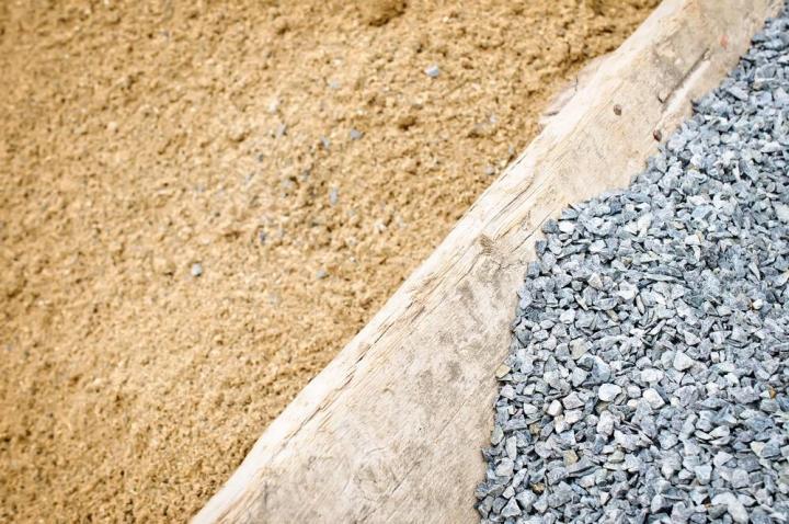 Общее использование песка и гравия